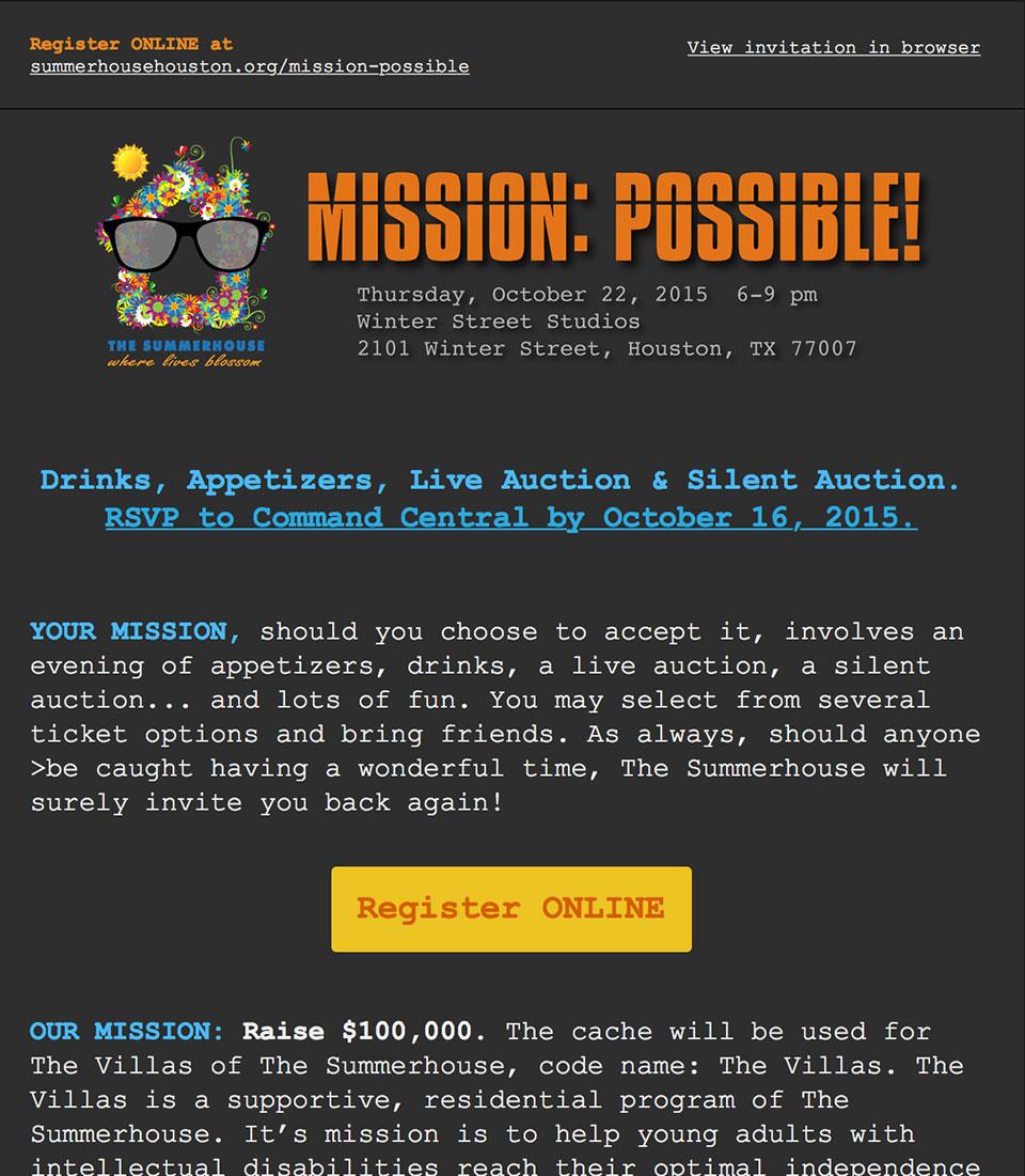 Fall 2015 Fundraiser