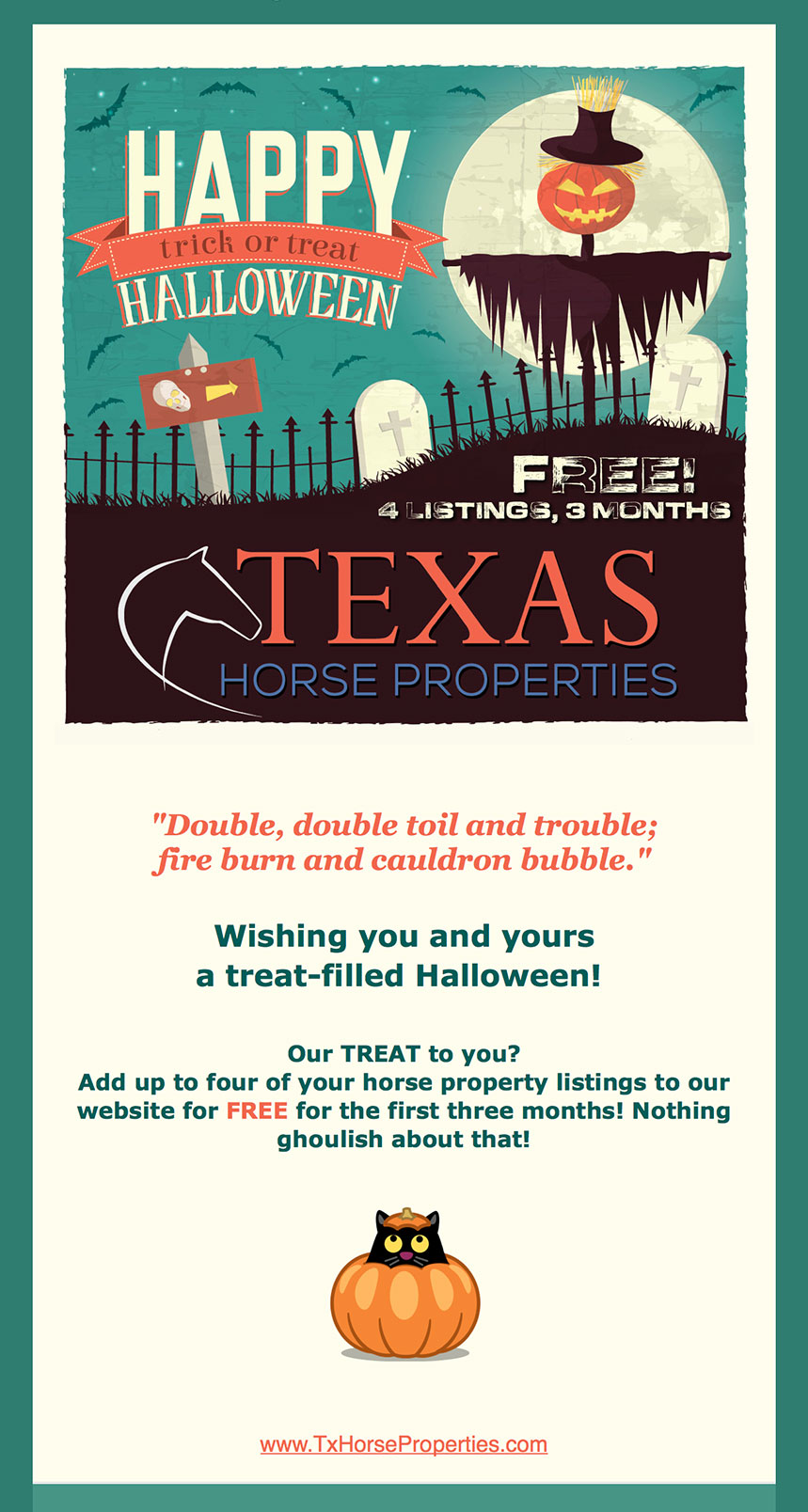 TxHP Halloween Email