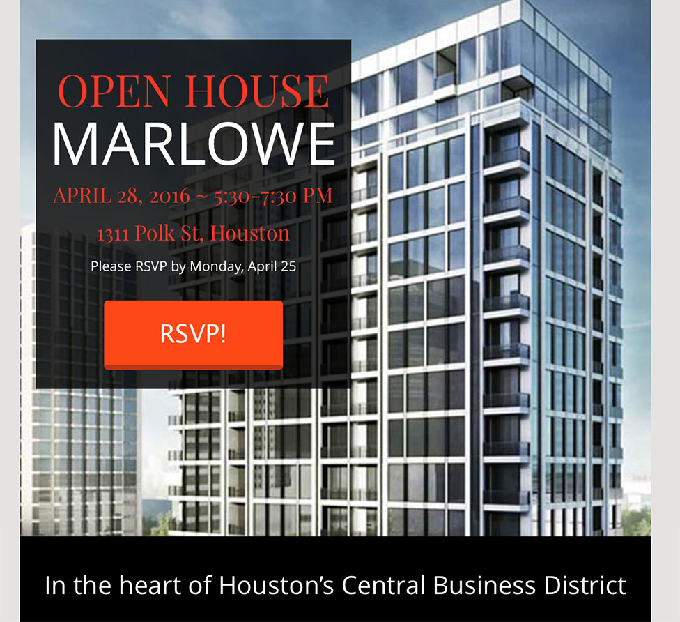 Marlowe Open House eBlast
