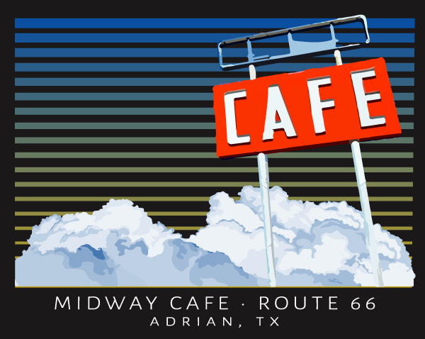 Midway Cafe Sign T-Shirt Design