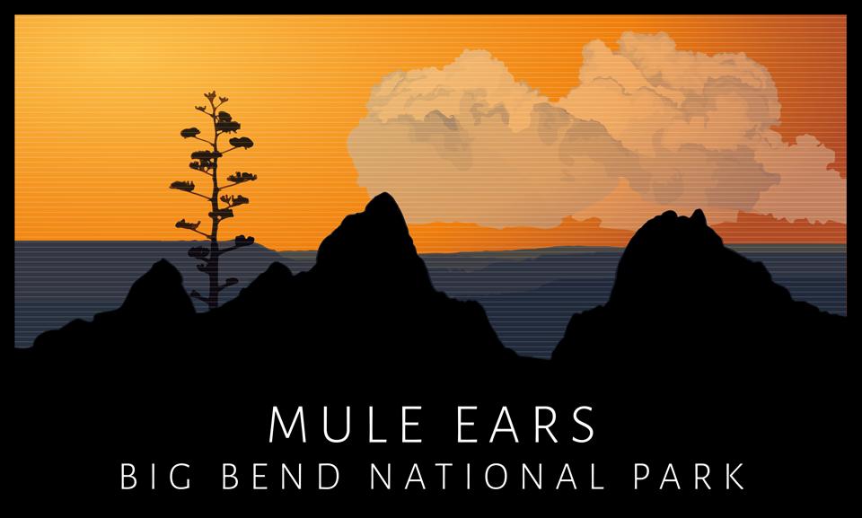 Mule Ears T-Shirt Design