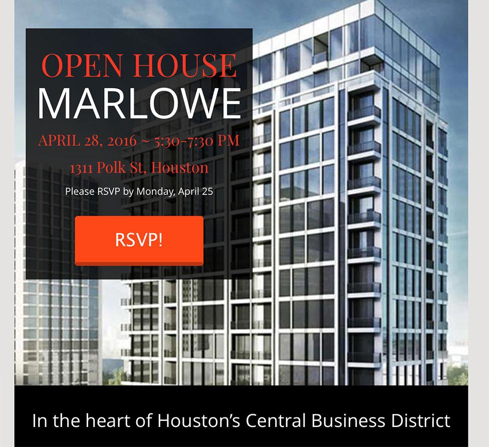 Marlowe Open House eBlast