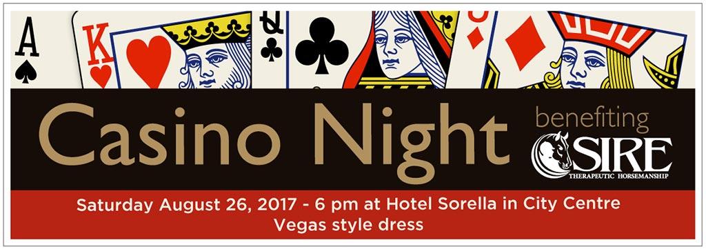Casino Night Event Banner