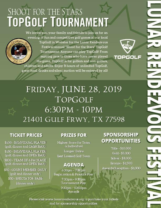 TopGolf Tournament Poster