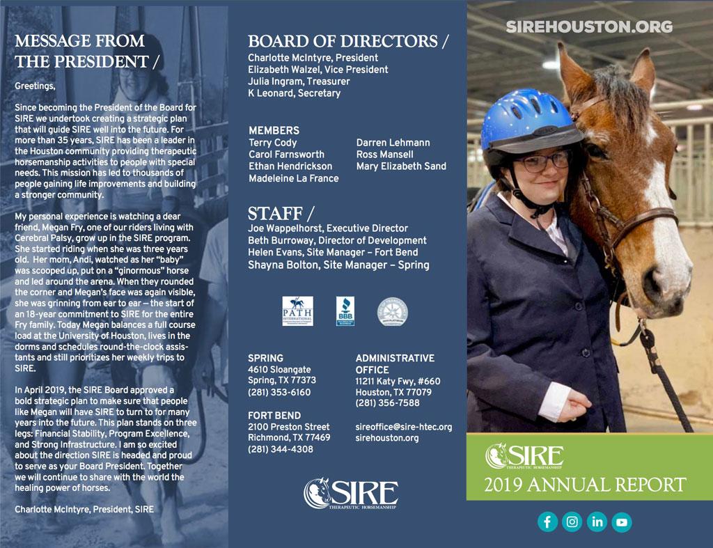 SIRE's Annual Report